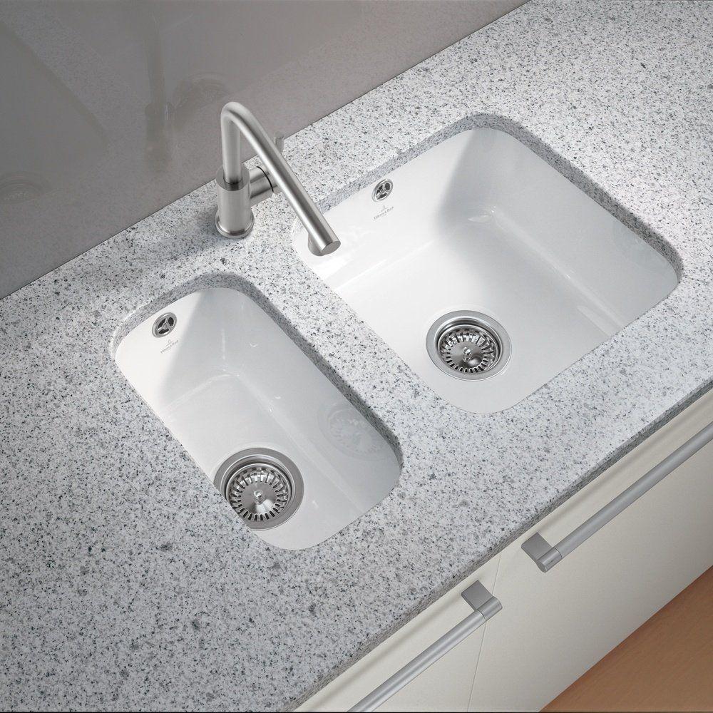 Villeroy Boch Cisterna 60c26 1 5 White Ceramic Undermount Kitchen Sink Waste Porcelain Kitchen Sink Undermount Kitchen Sinks White Kitchen Sink