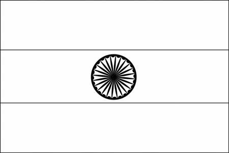 Indian Flag For Coloring 13678 Blank Indian Flag To Color India