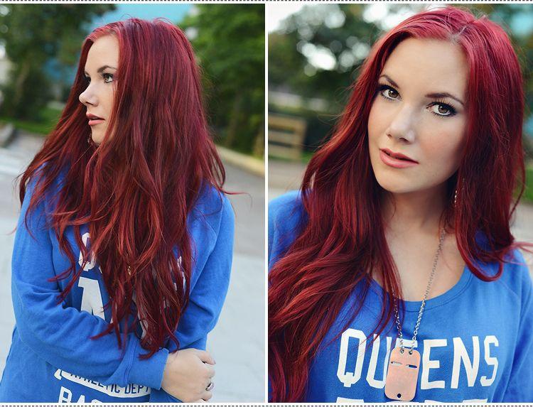 färga rött hår
