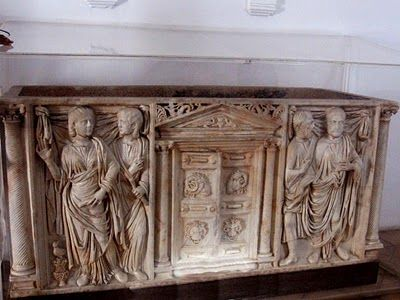 Roman sarcophagus,(2nd/3rd century AD) Alcazar de los Reyes Cristianos, Cordoba