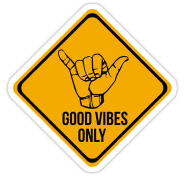 Shaka Sign Caution Hang Loose Good Vibes Only Surf Style