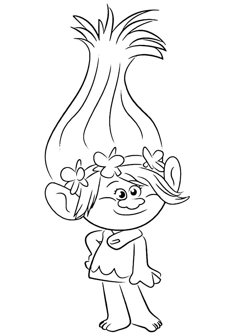 Trolls Coloring Pages To Download And Print For Free S