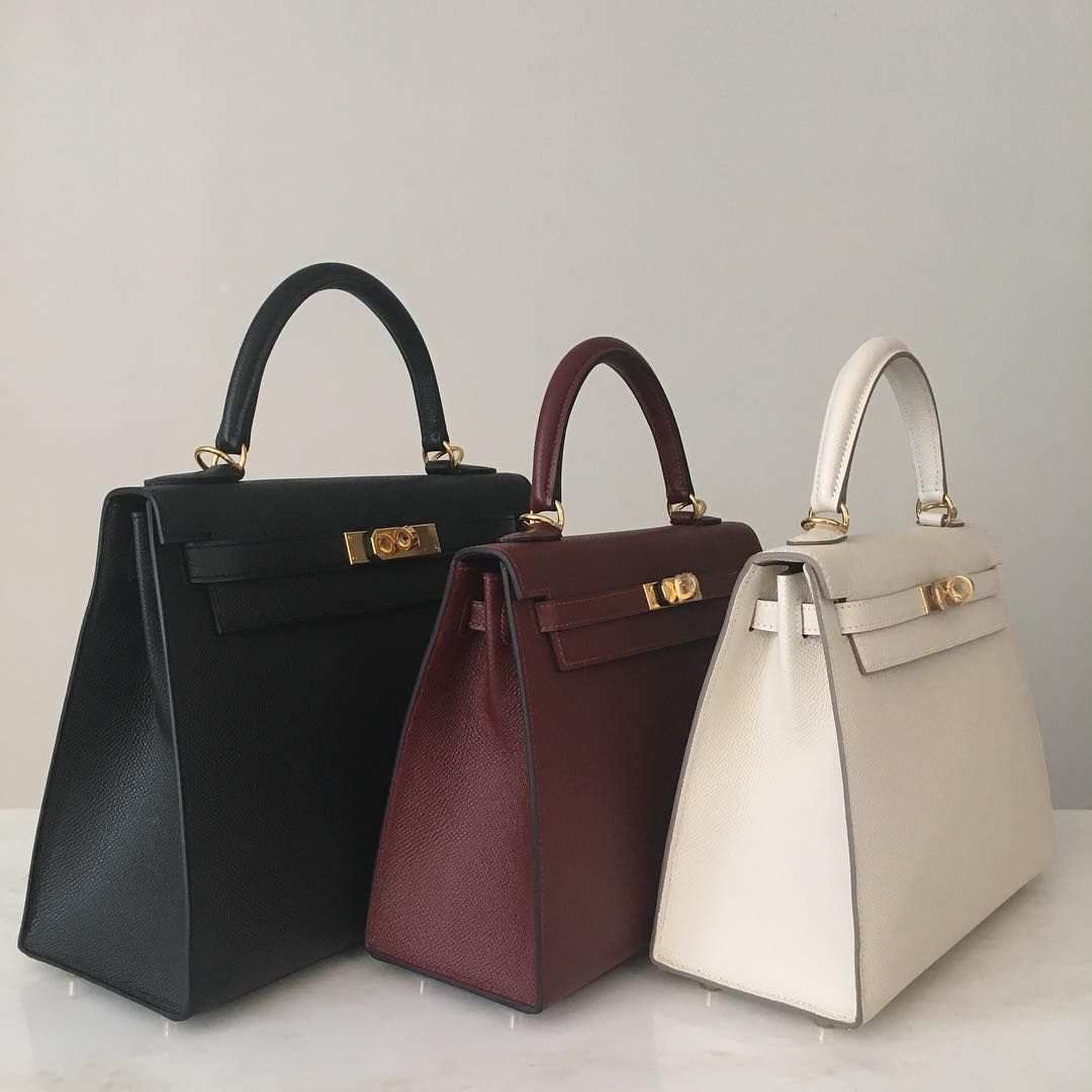 5ae18cdb5438 Hermes Kelly Sellier 28cm and 25cm pictured in black