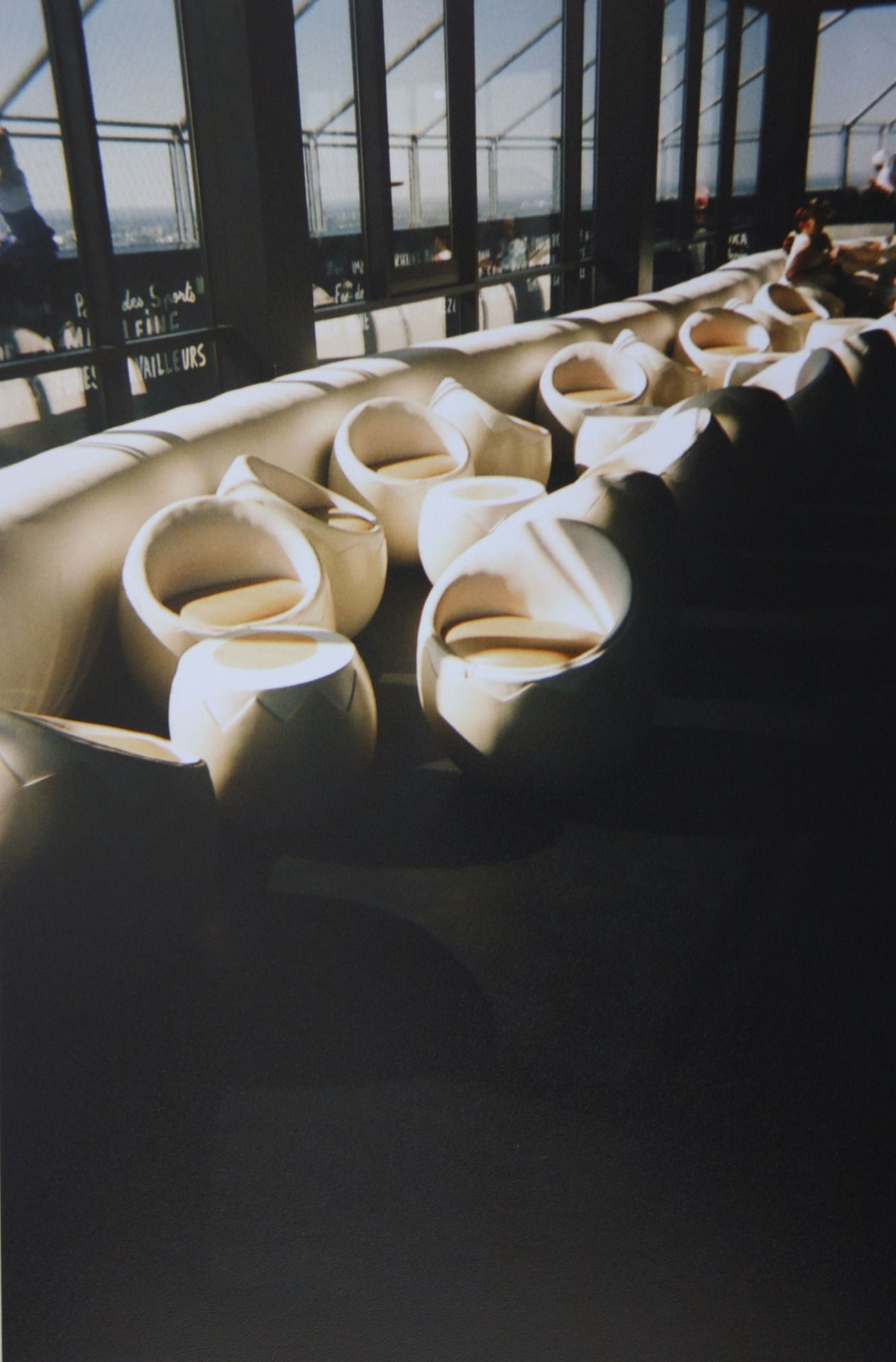 Photo by Laura Vandenbergh  Nantes, France 2013, egg chairs, analogue photography, interior