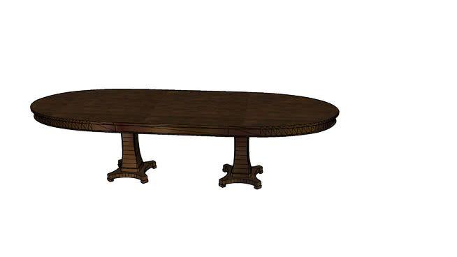 Bassett Oval Dining Table 2 4538-K4884 - 3D Warehouse 3D Dining