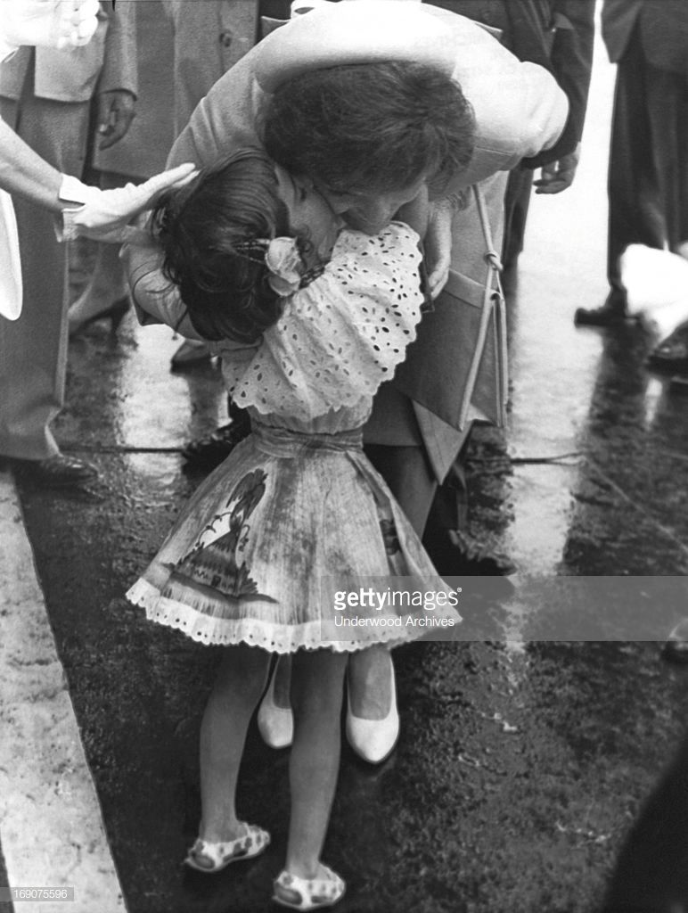 Mrs Jacqueline Kennedy Gives Five Year Old Maria Gianetta A Kiss