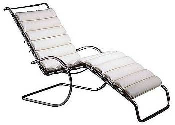 Ludwig Mies Van Der Rohes Modernist Steel MR Chaise Early Version Of MCM 1931