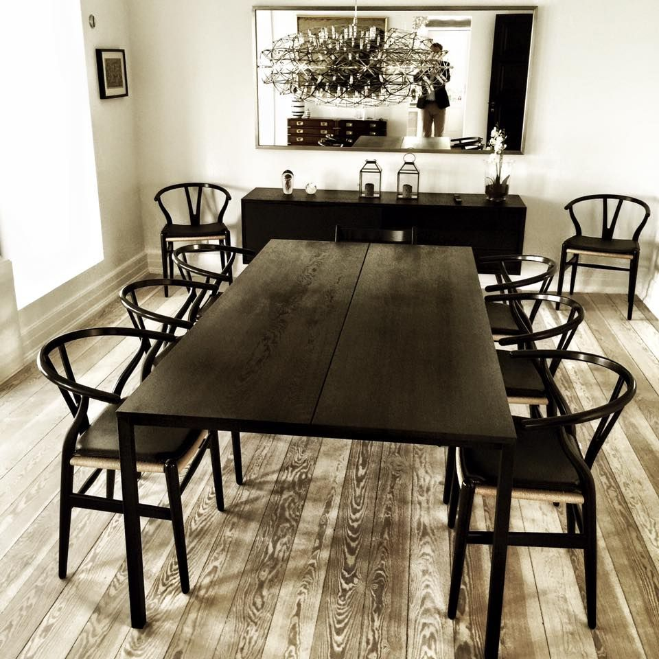 The LESS IS MORE TABLE in black oiled oak seen in a beautiful ...