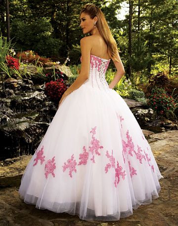 c0e75dfcbab white quinceanera dresses with pink