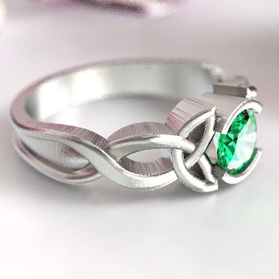 Celtic Eternity Ring Matching Band for 405b Unique Engagement Ring Handcrafted in Your Size 405b Sterling Silver Celtic Knot Ring