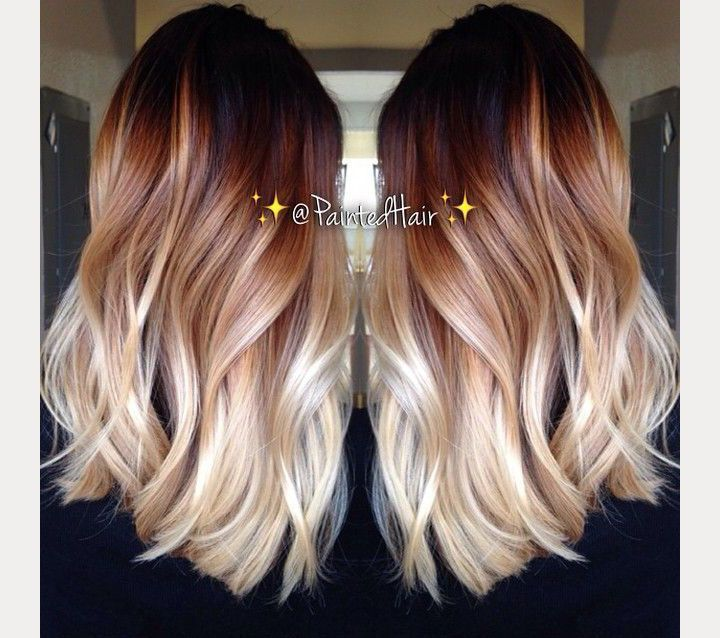 Awesome ombre hair done right hair pinterest cheveux for How to dye roses black
