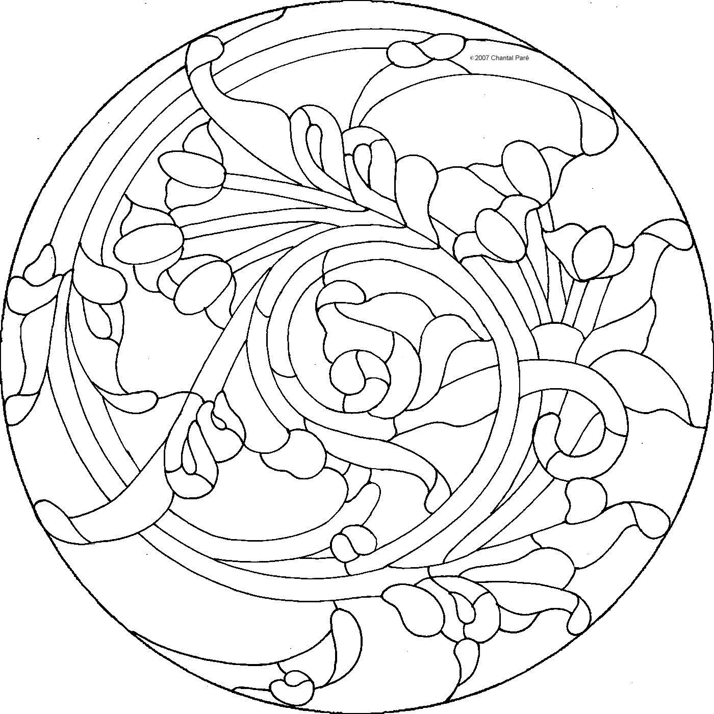 Pin de Saeideh en vitray | Pinterest | Mandalas, Repujado en metal y ...