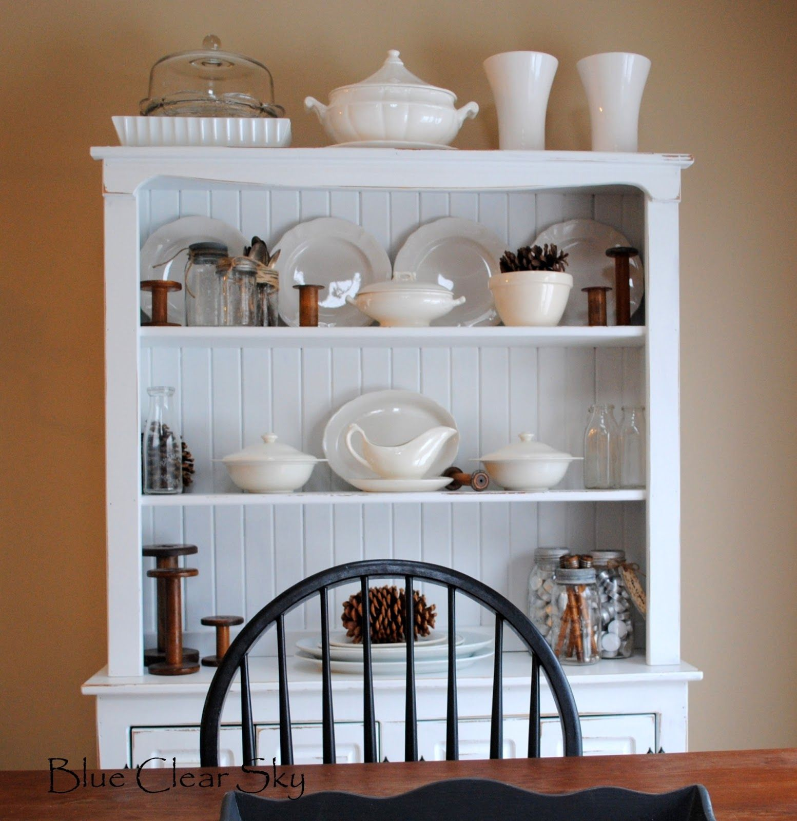 Washed Decor Corner Display Woodworking Dimensions Cabinet Plans Hutch Decorating Expanding Dining Table Ana Farmhouse Black Off Room Painted Hutches Ideas