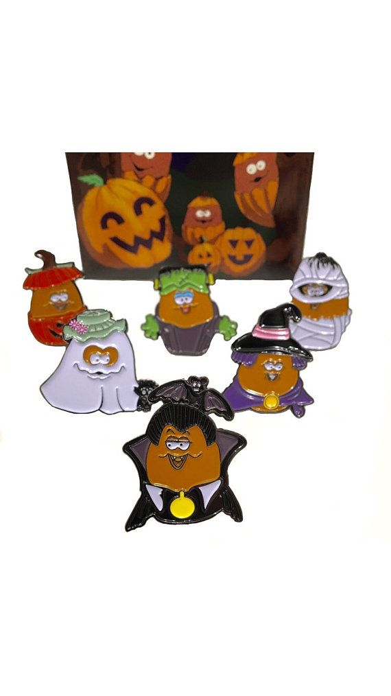 6-Pack of Halloween McNugget Enamel Pins by hopesick on Etsy