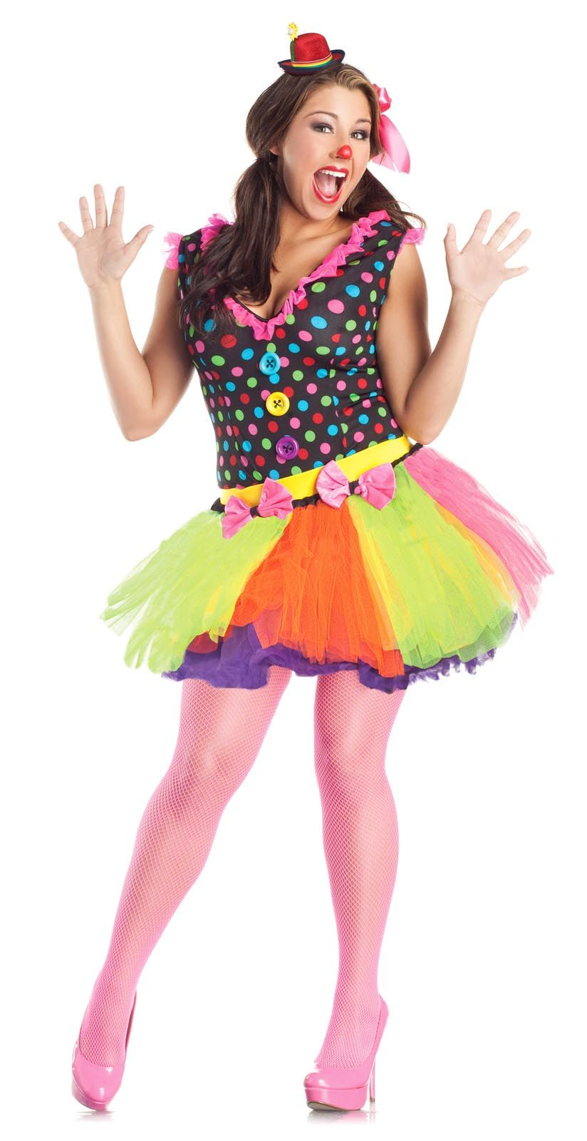 Zombie Clown Costumes for Women | Cute Clown Costume Dress Skirt ...