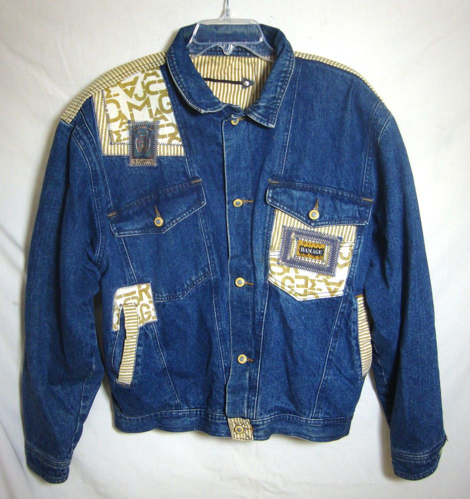 Major Damage Jean Jacket Vintage 80s Urban Streetwear Hip Hop ...