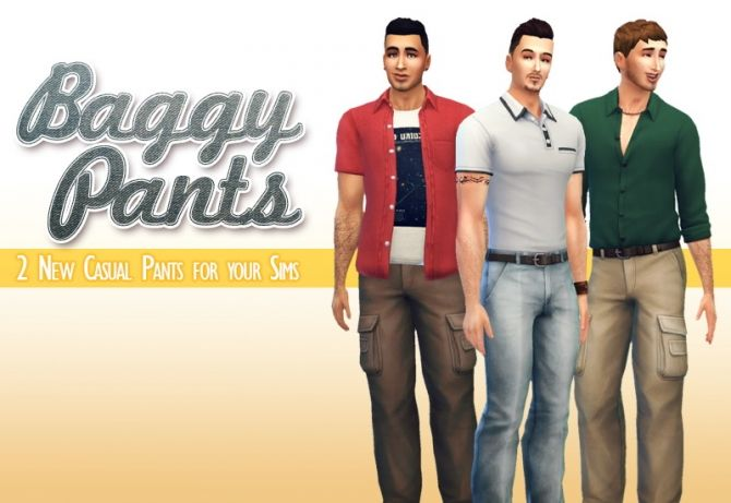 Baggy pants at Down in Simsland • Sims 4 Updates