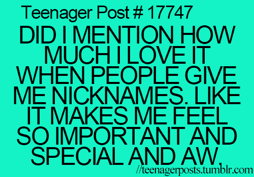 Nicknames for teenage guys