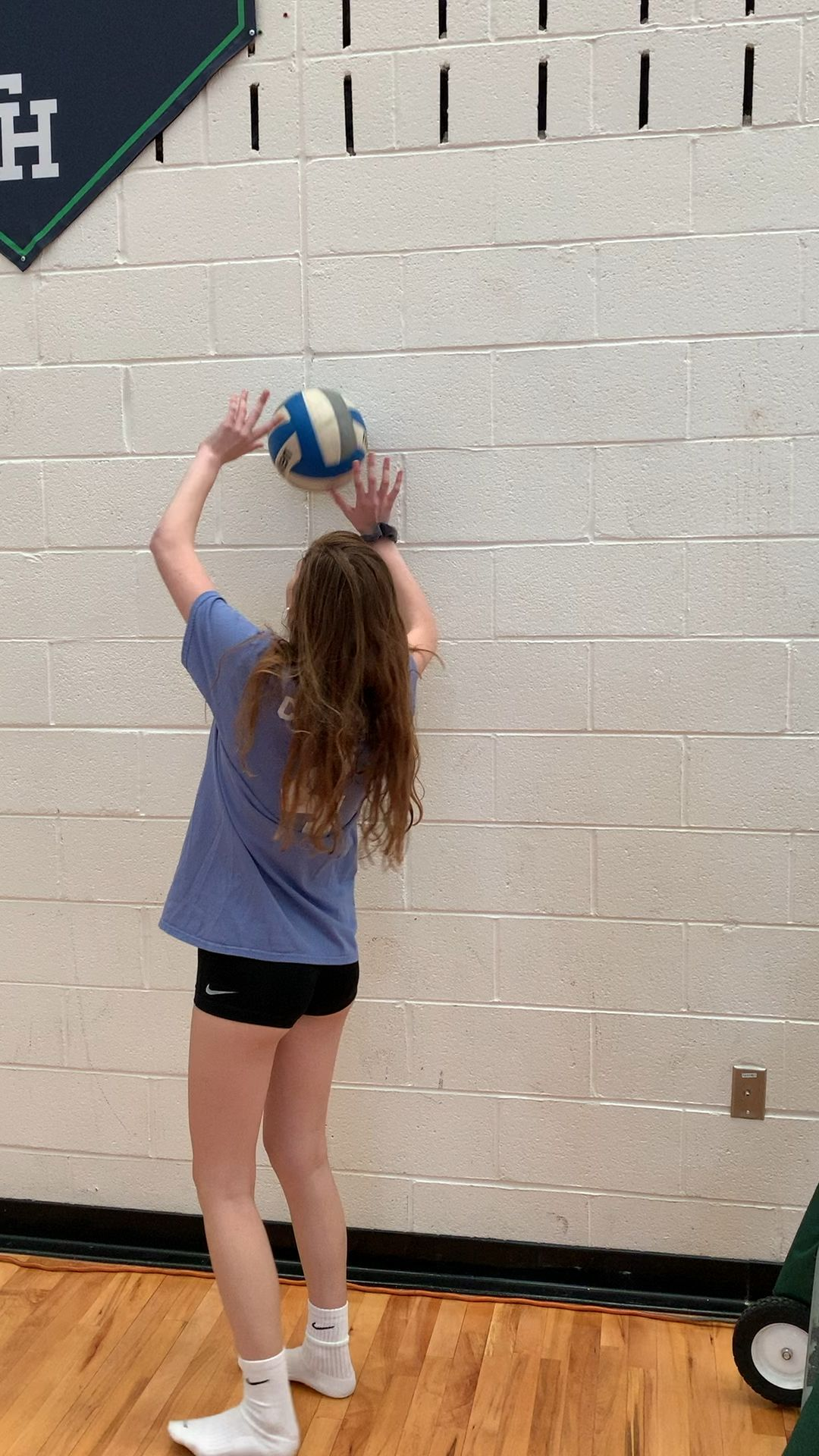 Wall Setting Video Coaching Volleyball Volleyball Workouts Volleyball Outfits