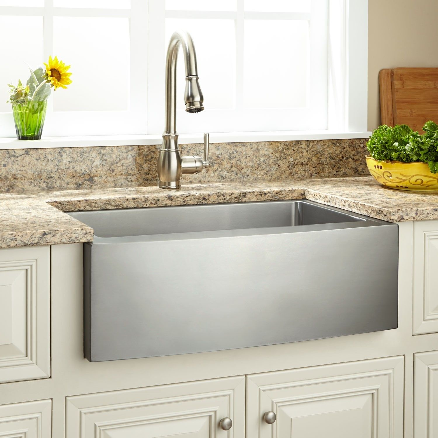 27 Optimum Stainless Steel Farmhouse Sink Curved Front