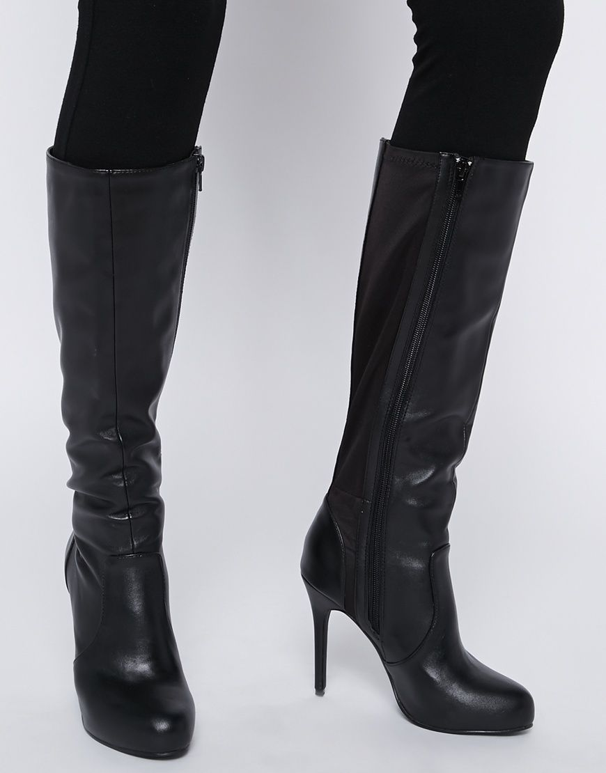 Image 1 of New Look Brandy 2 Knee High Heeled Boots