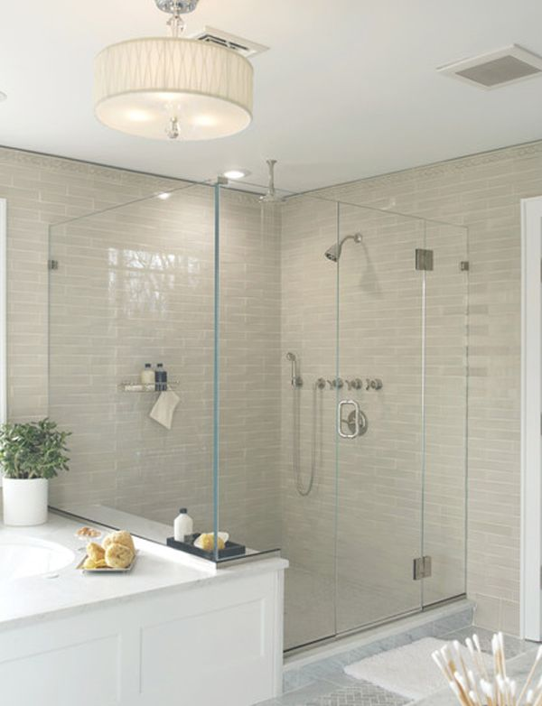 Luxury Beige Subway Tile Bathroom