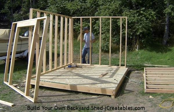 How To Build Shed Walls Standing Second Shed Wall Backyard Shed