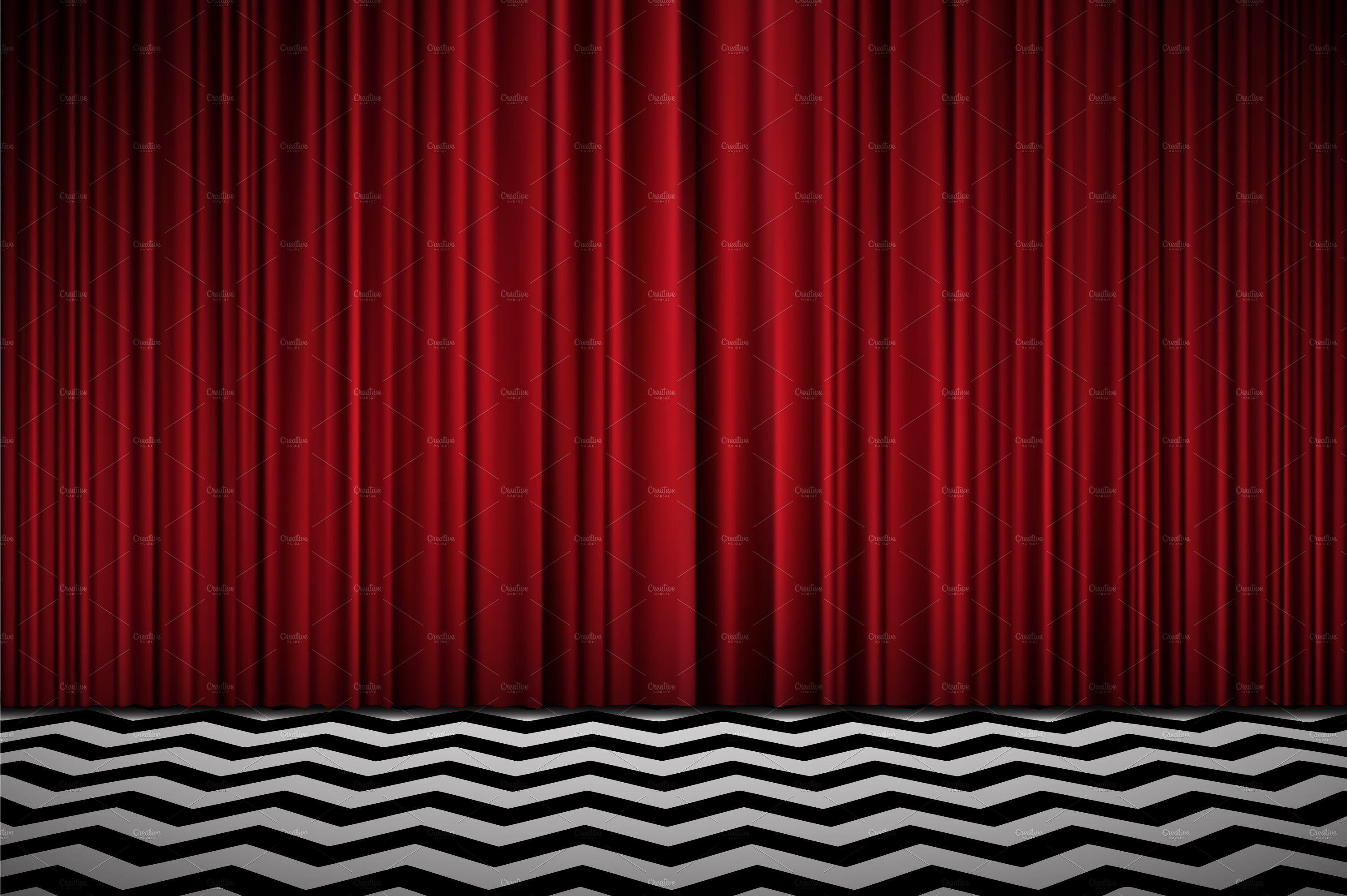 Twin Peaks Background Twin Peaks Red Velvet Curtains Twin Peaks Wallpaper