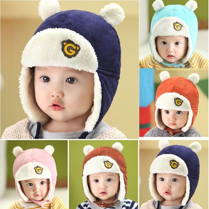 Winter Baby Toddlers Girls Boys Kids Pilot Aviator Cap Fleece Warm Beanie Hat