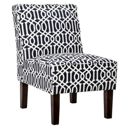Threshold Slipper Chair - Navy Trellis   Pins You Love ...