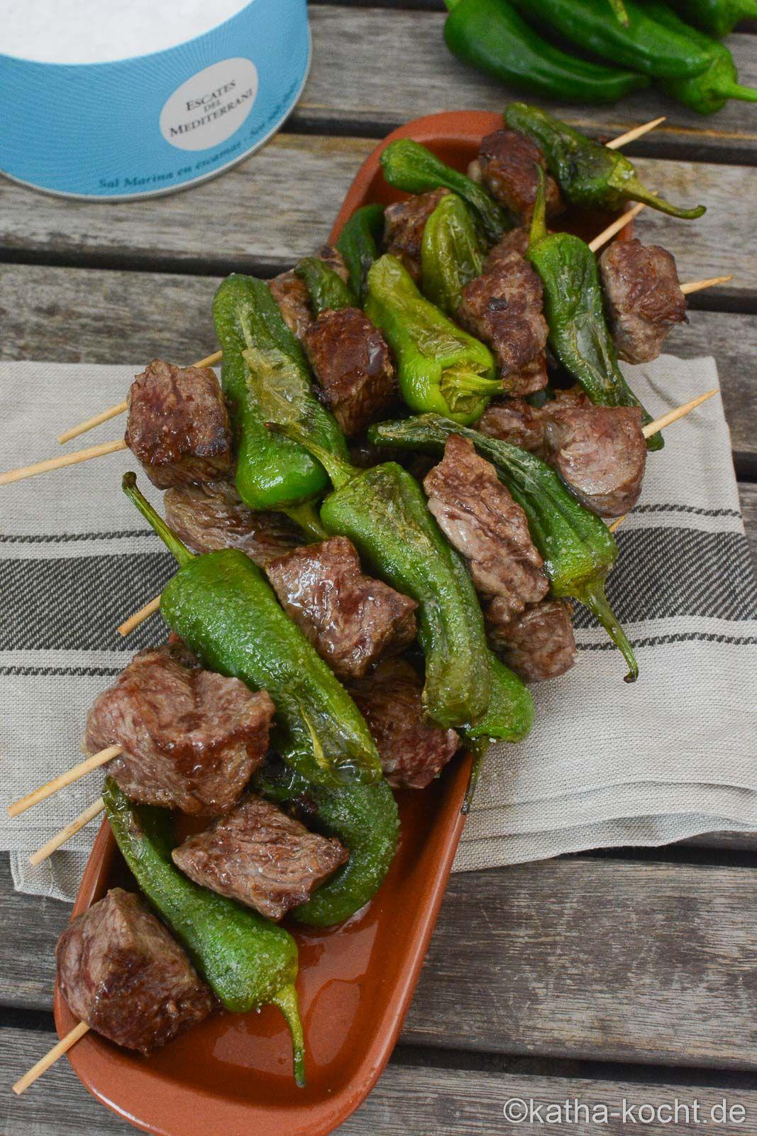 Tapas – Steak-Pimentos Spieße