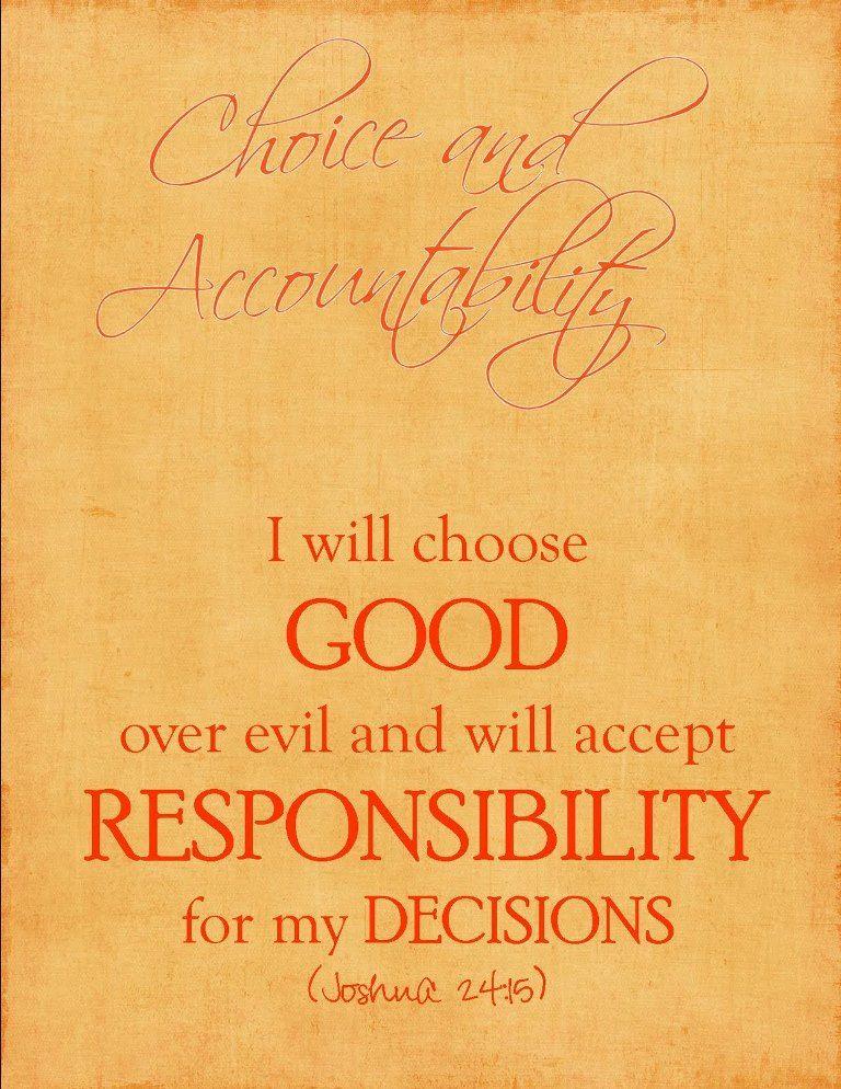 Choice Accountability Inspirational Bible Quotes Bible Quotes Best Bible Quotes