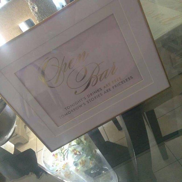 Wedding Cigar Bar Signs In REAL Gold Foil / Wedding Cigar