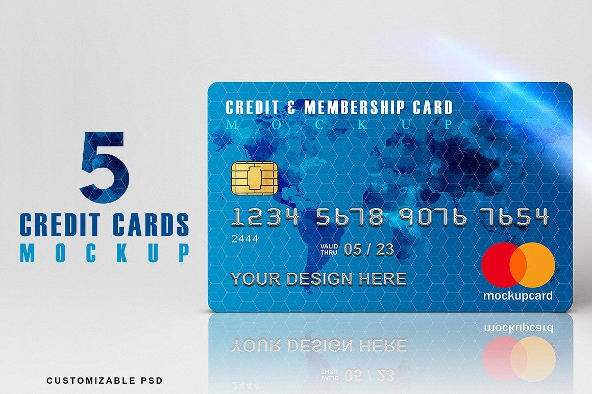 Credit Card Mockup 40 Free Unique Credit Card Psd Templates For Design Inspiration A Mockup Is An Overall Mo Credit Card Design Credit Card Art Credit Card