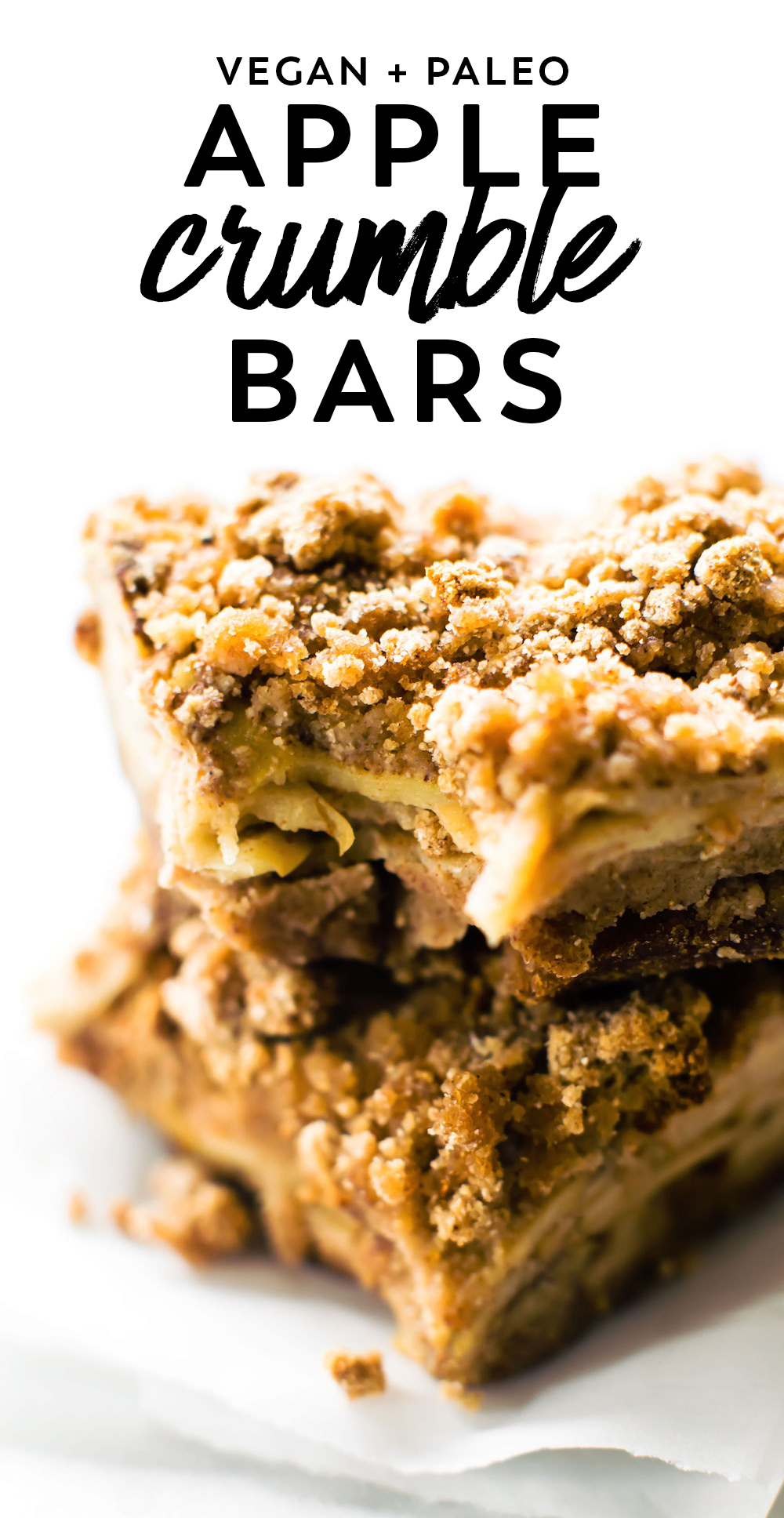 Grain Free Apple Crumble Bars