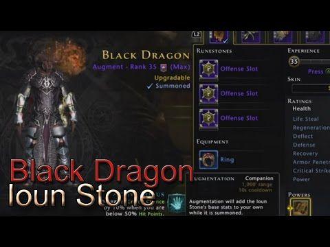 Neverwinter - Black Dragon Ioun Stone (Companion) [PS4