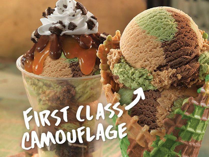 Delicious Camouflage Ice Cream Baskin robbins flavors