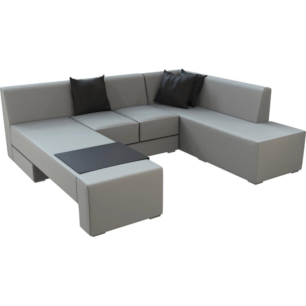 Lounge Set Mentone 3 Teilig Aus Axvision Ausfuhrung Rechts Grau Kaufen Bei Obi Lounge Lounge Gartenmobel Grosse Sitzkissen