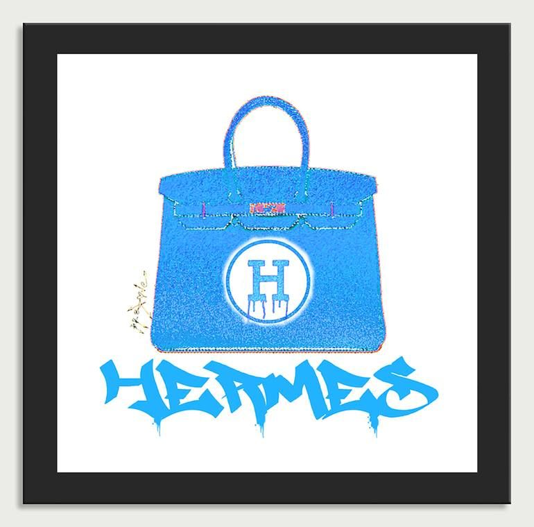 Photo of Original Fashion Printmaking by Dr Eight Love | Pop Art Art on Canvas | Hermes handbags Color 7 – Canvas Limited Edition