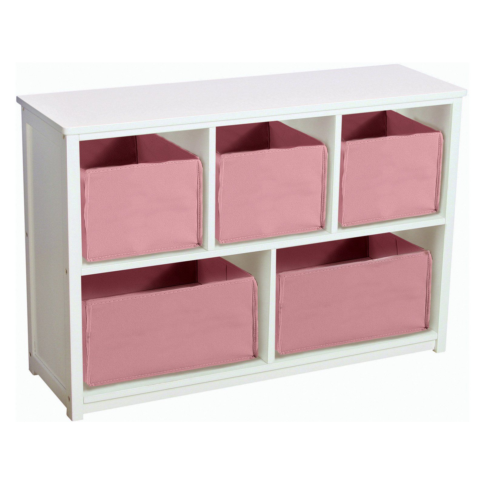 Guidecraft Classic White Bookshelf with Optional Baskets