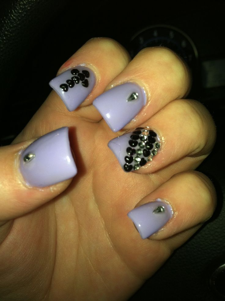 Cute Nail Designs With Rhinestones - Nail Ftempo