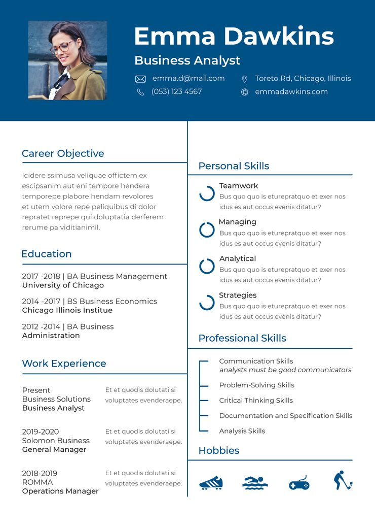Free basic analyst resume template good resume examples