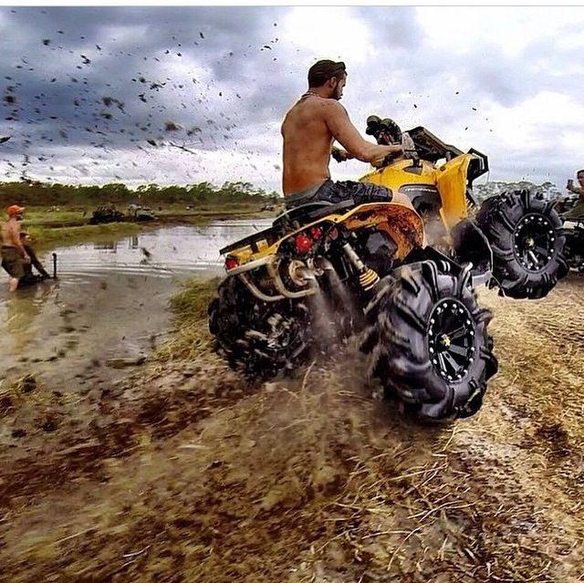 Riding In The Mud With Images Atv Quads Dirtbikes Atv