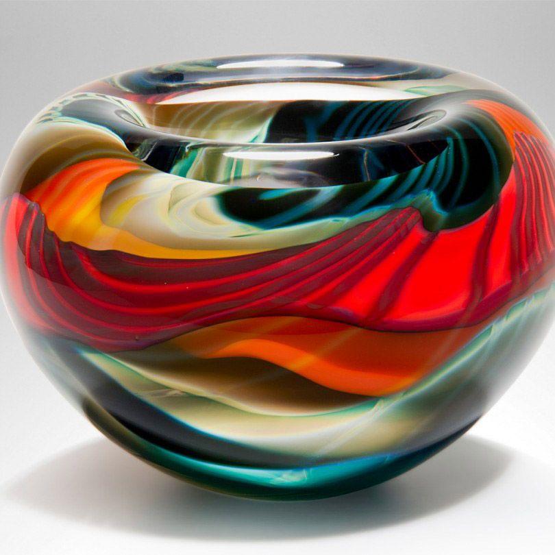 Decorative Red Glass Bowls Black, Decorative Glass Bowls