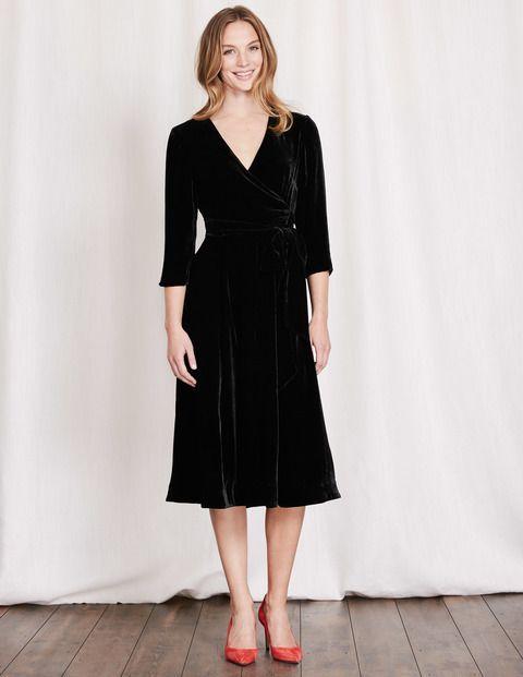 5b973c4410f Velvet Wrap Dress WW168 Wrap Dresses at Boden