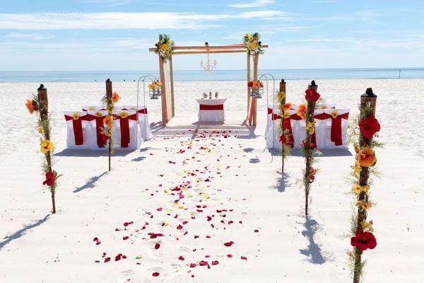Sunset Beach Wedding Package Big Day Weddings Gulf Shores And Orange Beach Alabama Red And Yel Sunset Beach Weddings Beach Wedding Packages Alabama Beaches