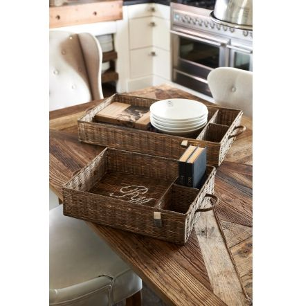 Rustic Rattan Partition Tray S/2 - Woonkamer | Rivièra Maison ...