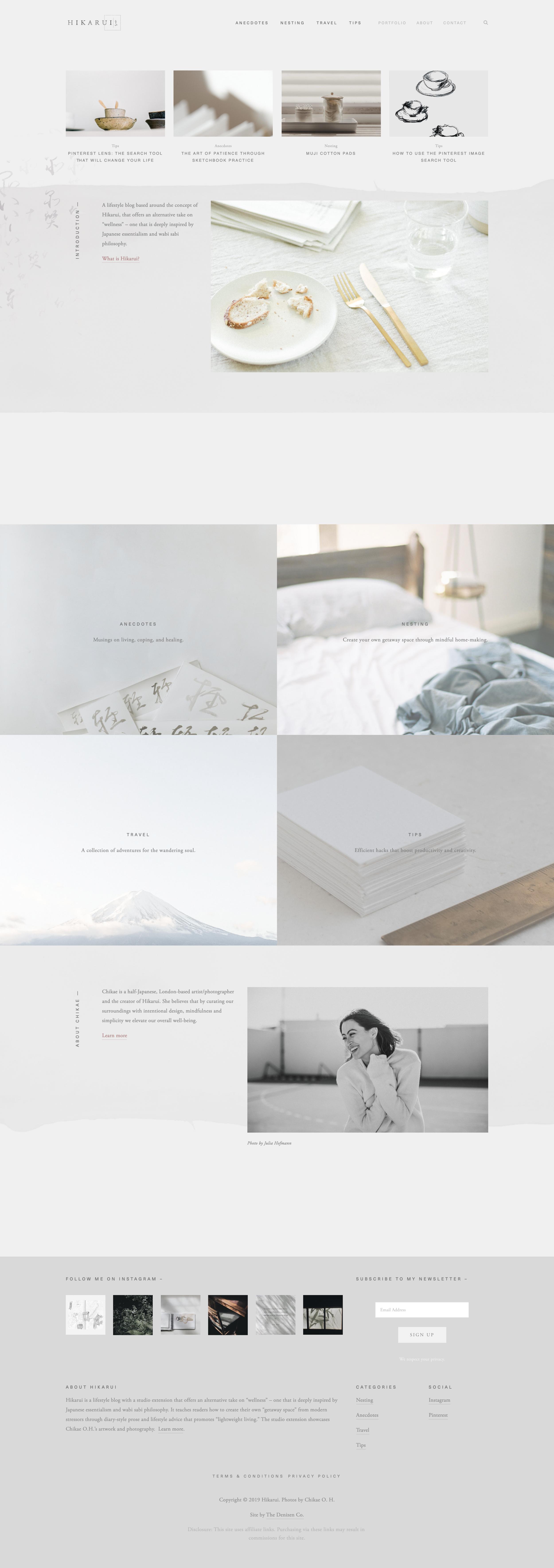 Branding And Web Design For Hikarui Minimal Web Design Web Design Web Layout Design