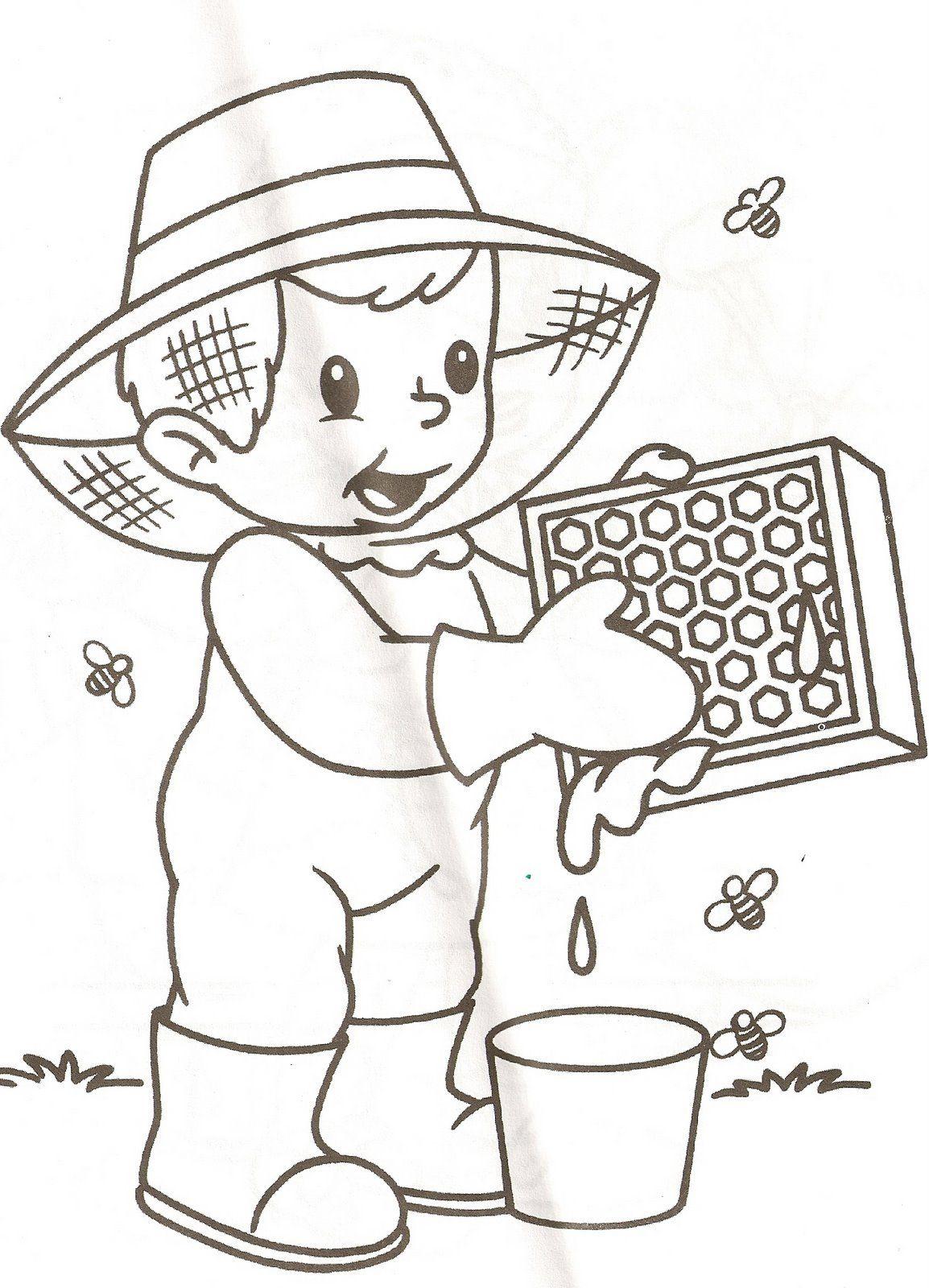 Pin Van Denia Patricia Quesada V Op Bijen Kleurplaten Thema Insecten