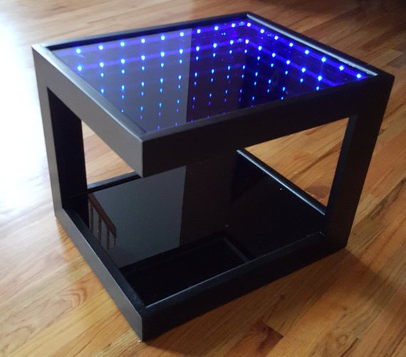 Glass Led Coffee Table 6